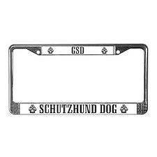 GSD Schutzhund License Plate Frame