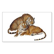 Tiger Pair Rectangle Decal
