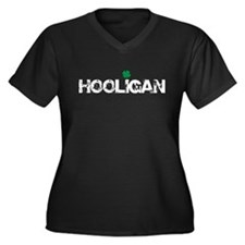 Hooligan Women's Plus Size V-Neck Dark T-Shirt