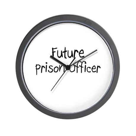 Future Prison Officer Wall Clock