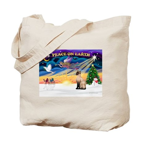 Peace / Siamese Cat Tote Bag