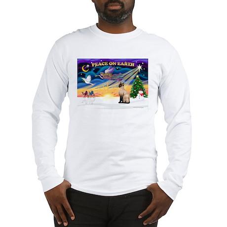 Peace / Siamese Cat Long Sleeve T-Shirt