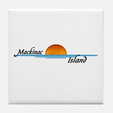 Mackinac Island Sunset Tile Coaster