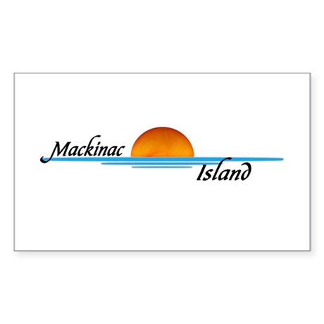Mackinac Island Sunset Rectangle Sticker
