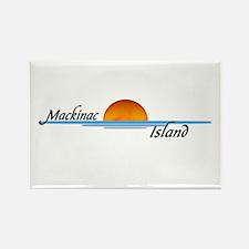 Mackinac Island Sunset Rectangle Magnet