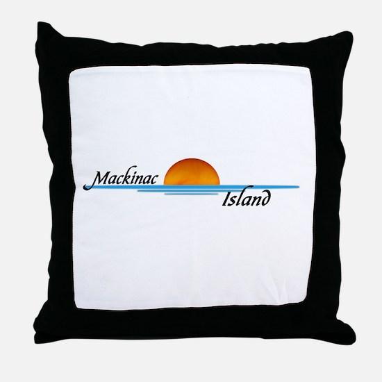 Mackinac Island Sunset Throw Pillow