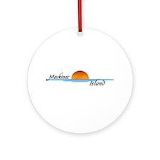 Mackinac Island Sunset Ornament (Round)