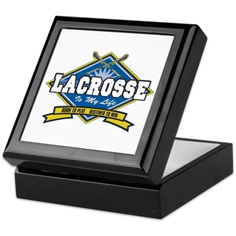 Lacrosse Is My Life Keepsake Box