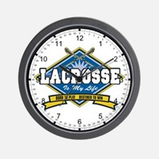 Lacrosse Is My Life Wall Clock