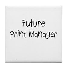 Future Print Manager Tile Coaster