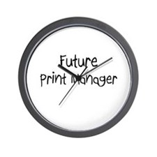 Future Print Manager Wall Clock