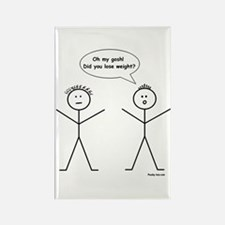 Stick Figure Weight Loss Rectangle Magnet