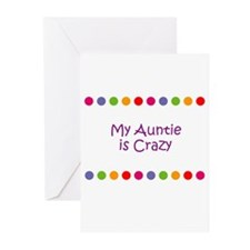My Auntie is Crazy Greeting Cards (Pk of 10)