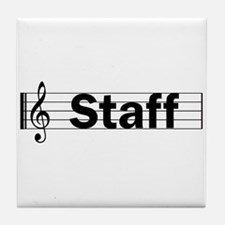 Music Staff Tile Coaster