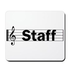 Music Staff Mousepad