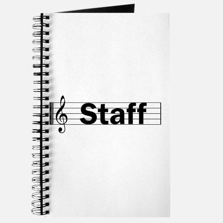 Music Staff Journal