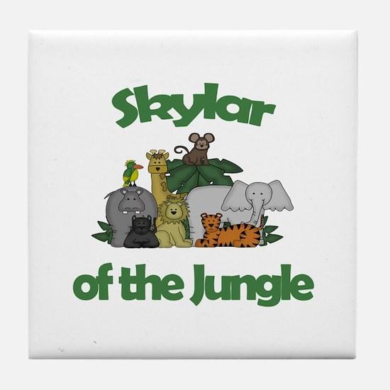 Skylar of the Jungle Tile Coaster