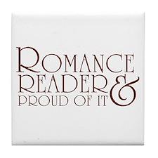 Proud Romance Reader Tile Coaster