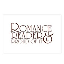 Proud Romance Reader Postcards (Package of 8)