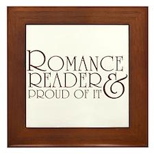 Proud Romance Reader Framed Tile