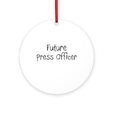 Future Press Officer Ornament (Round)