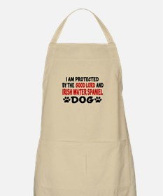 Protected By Irish Water spaniel Dog Apron