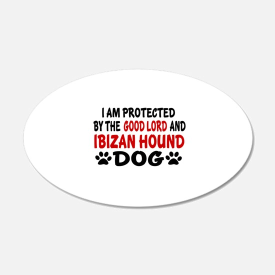 Protected By Ibizan Hound Do Wall Decal