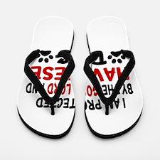 Protected By Havanese Dog Flip Flops