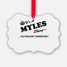 MYLES thing, you wouldn't underst Ornament