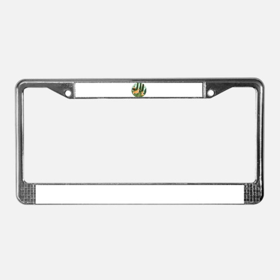 Woodland Foxes License Plate Frame