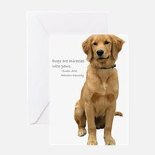 Golden Miracle Greeting Card