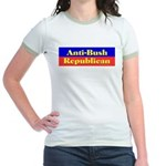Anti-Bush Republican Jr. Ringer T-Shirt