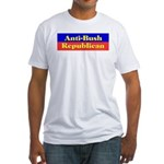 Anti-Bush Republican Fitted T-Shirt