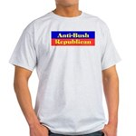 Anti-Bush Republican Ash Grey T-Shirt