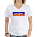 Anti-Bush Republican Women's V-Neck T-Shirt