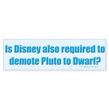 Disney and Pluto Bumper Bumper Sticker