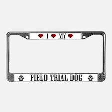 Field Trial Dog License Plate Frame