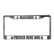 Beauceron French Ring License Plate Frame
