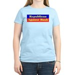 Republican Against Bush Women's Pink T-Shirt