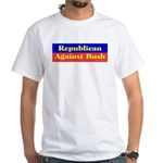 Republican Against Bush White T-Shirt