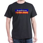Republican Against Bush Black T-Shirt