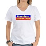 Republican Against Bush Women's V-Neck T-Shirt