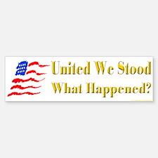 United We Stood #2 Bumper Bumper Bumper Sticker