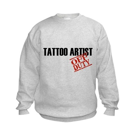 Off Duty Tattoo Artist Kids Sweatshirt