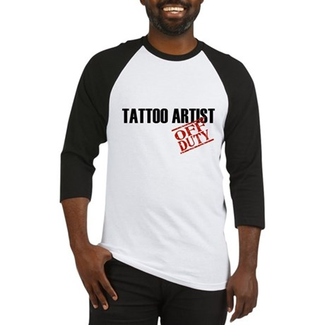 Off Duty Tattoo Artist Baseball Jersey