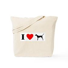 I Heart Smooth Podengo Tote Bag