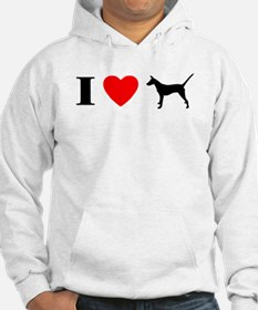I Heart Smooth Podengo Hoodie