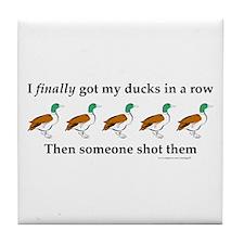 Ducks in a Row Tile Coaster