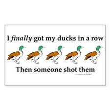 Ducks in a Row Rectangle Decal