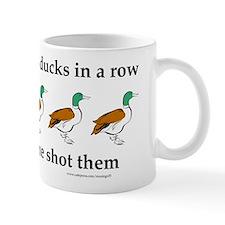 Ducks in a Row Small Mug